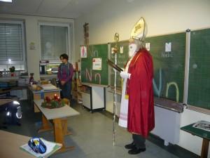 Der Nikolaus in der Klasse 1a